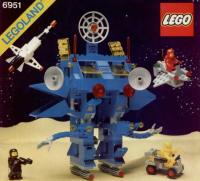 Another one of the space exploration Lego-models I used to have - a huge blue robot