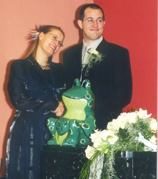 Picture of Marjolijn and Sebastiaan during our wedding
