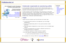 Small screenshot of the new and improved www.politiebestel.nl